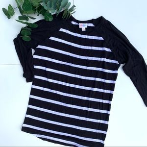 LuLaRoe black and white striped Randy